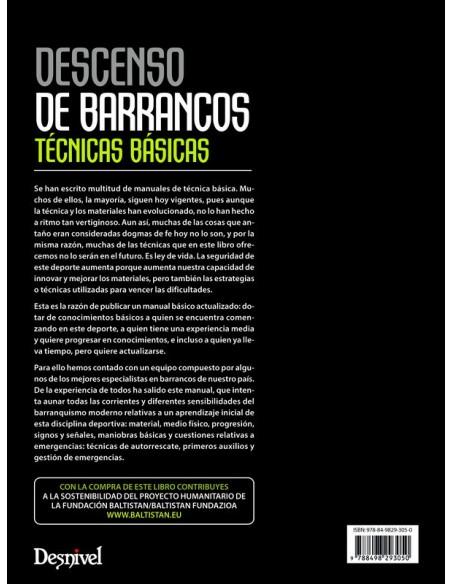 Libro decenso de barrancos técnicas básicas